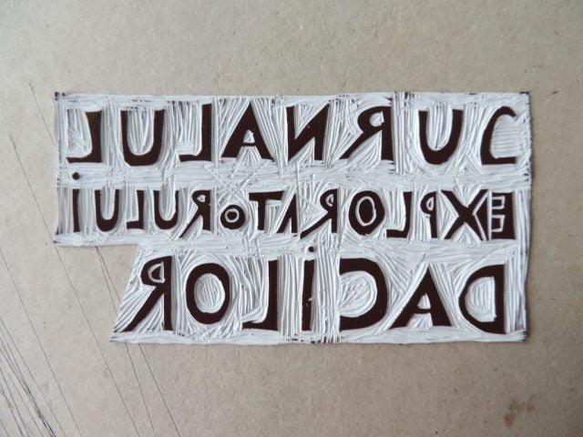 acoperirea plăcii cu cerneală tipografică