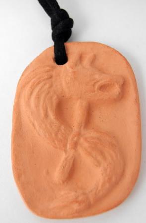 pandantiv ceramic lup