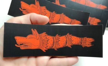 sticker draco roșu